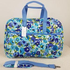 Vera Bradley Grand Traveler Bag Blueberry Blooms